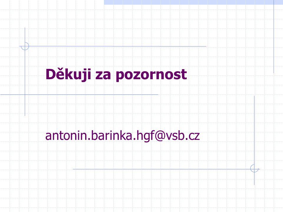 Děkuji za pozornost antonin.barinka.hgf@vsb.cz