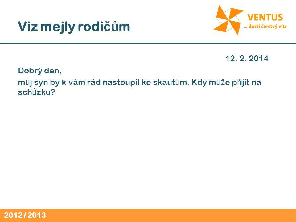 2012 / 2013 Viz mejly rodi čů m 12. 2.