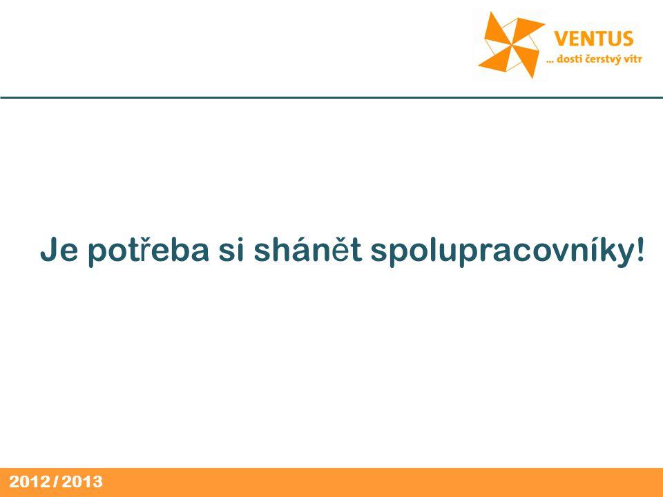 2012 / 2013 Je pot ř eba si shán ě t spolupracovníky!