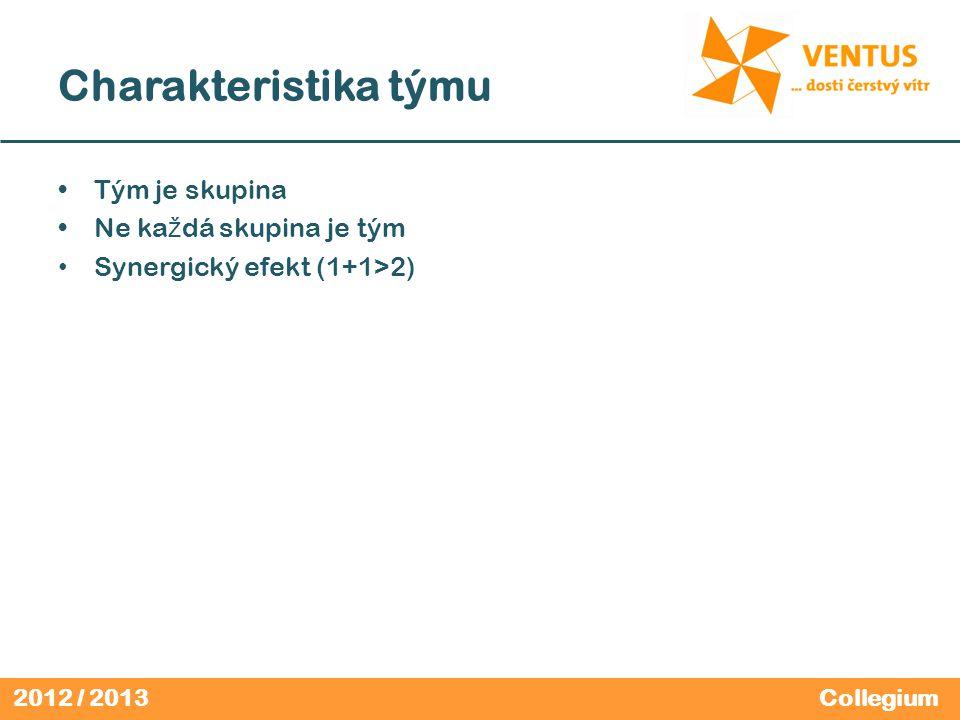 2012 / 2013 Aktivita Vybavte si č lov ě ka, s kterým se vám dob ř e spolupracuje.