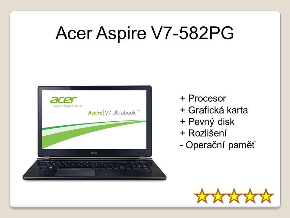 Acer Aspire V7-582PG + Procesor + Grafická karta + Pevný disk + Rozlišení - Operační paměť