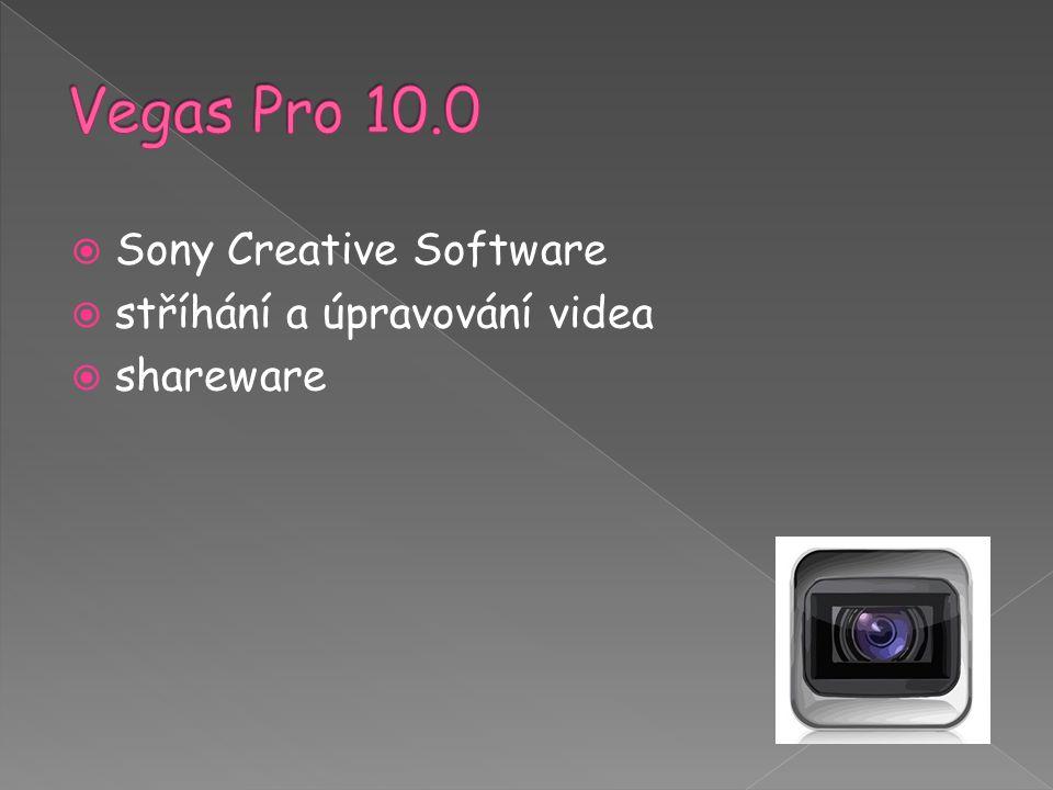  Sony Creative Software  stříhání a úpravování videa  shareware