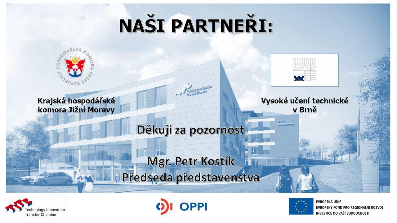 Krajská hospodářská komora Jižní Moravy Vysoké učení technické v Brně