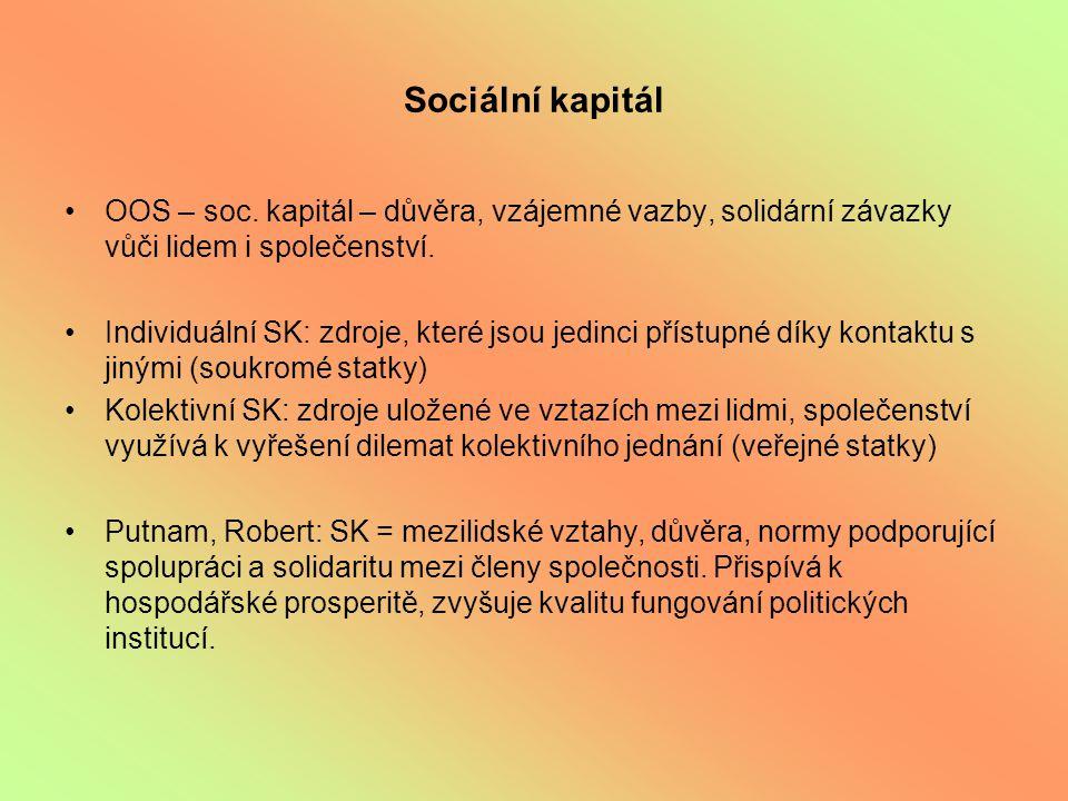 Sociální kapitál OOS – soc.