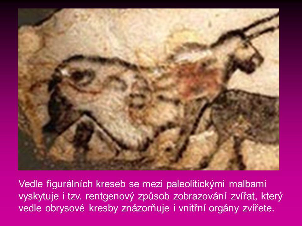 Vedle figurálních kreseb se mezi paleolitickými malbami vyskytuje i tzv.