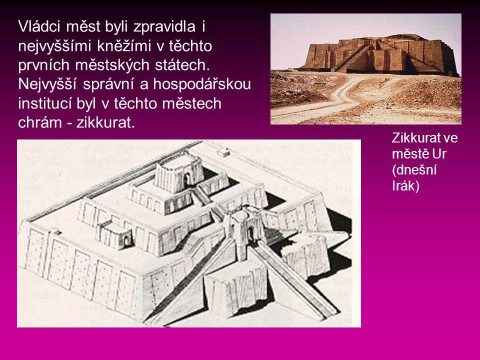 Vládci měst byli zpravidla i nejvyššími kněžími v těchto prvních městských státech.