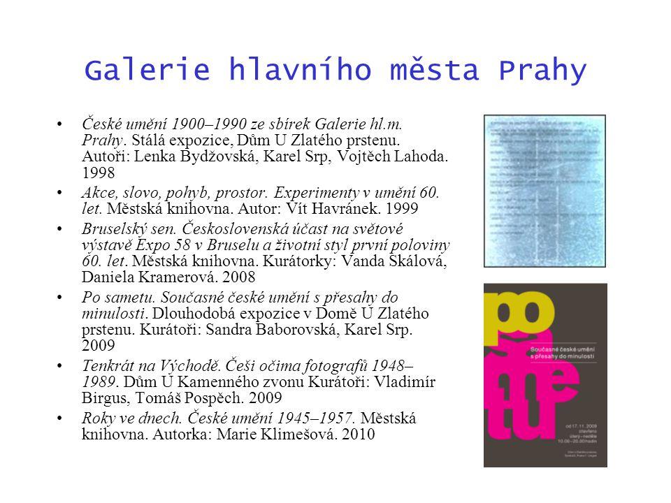 Galerie hlavního města Prahy České umění 1900–1990 ze sbírek Galerie hl.m.