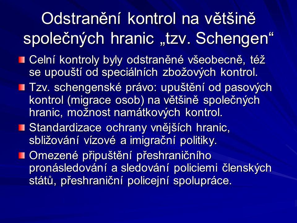 """Odstranění kontrol na většině společných hranic """"tzv."""