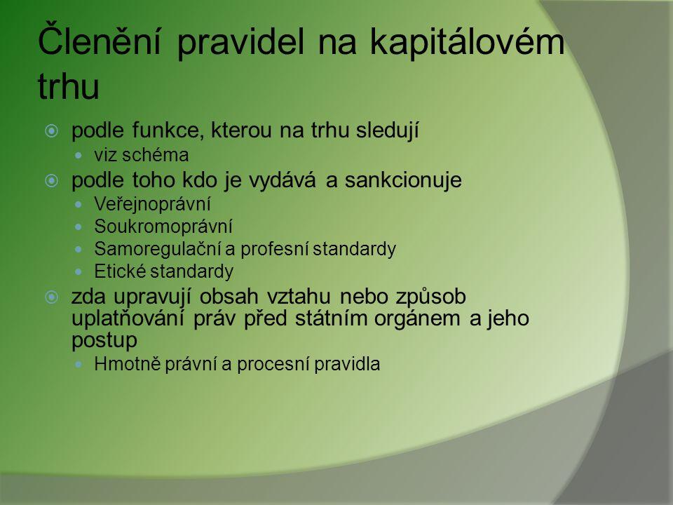 Lamfalussyho proces (4) na úrovni EUv rámci ČR 1.