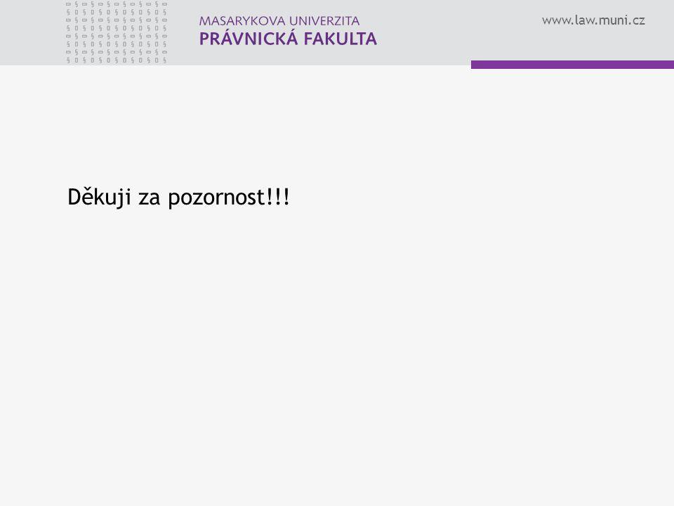 www.law.muni.cz Děkuji za pozornost!!!