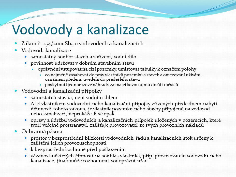 Vodovody a kanalizace Zákon č.
