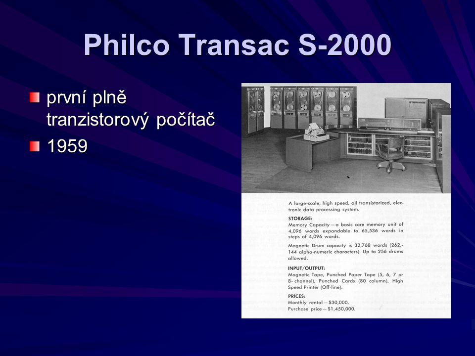 Philco Transac S-2000 první plně tranzistorový počítač 1959