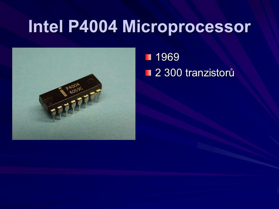Intel P4004 Microprocessor 1969 2 300 tranzistorů