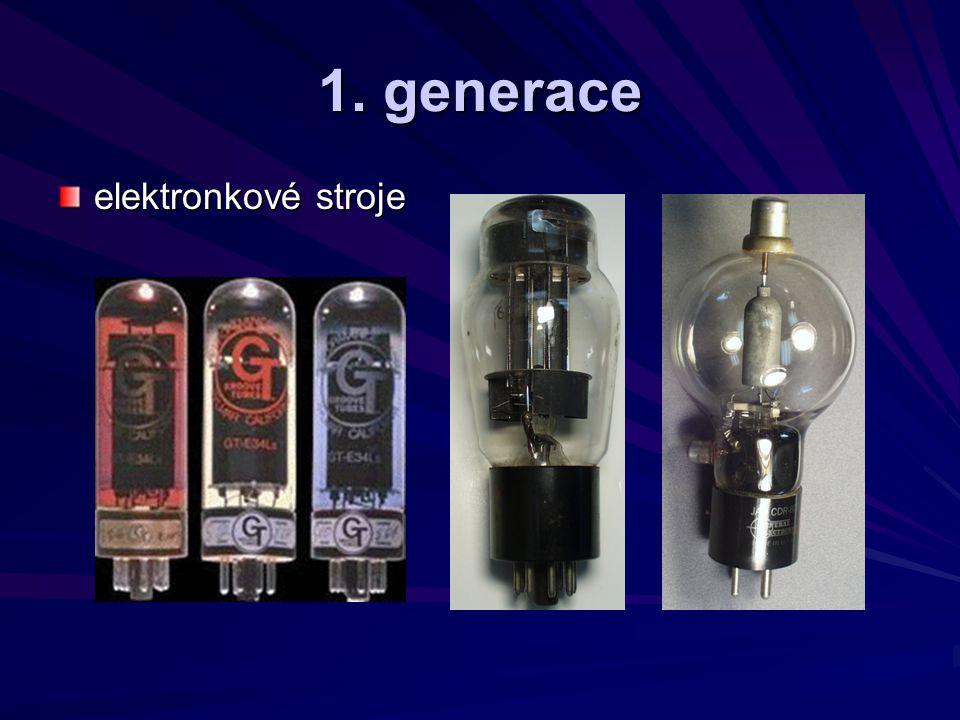 1. generace elektronkové stroje