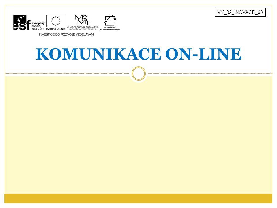 KOMUNIKACE ON-LINE VY_32_INOVACE_63