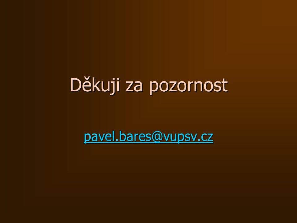 Děkuji za pozornost pavel.bares@vupsv.cz