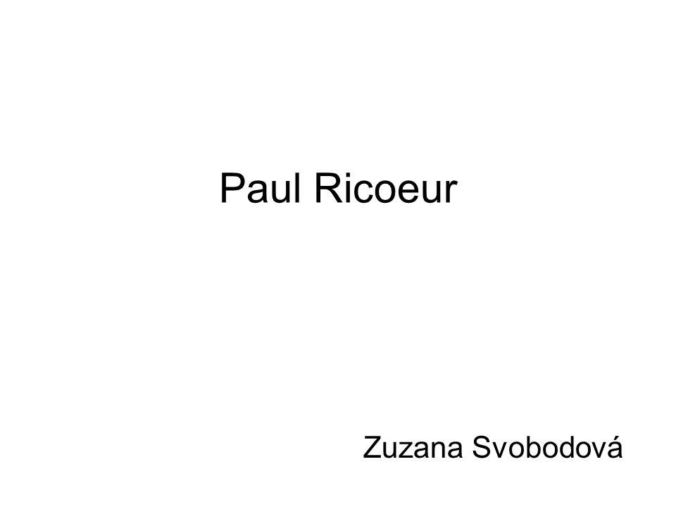 Paul Ricoeur Zuzana Svobodová