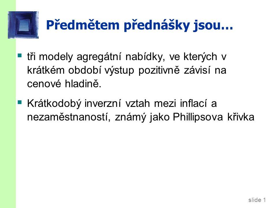 slide 32 Bezbolestná dezinflace.