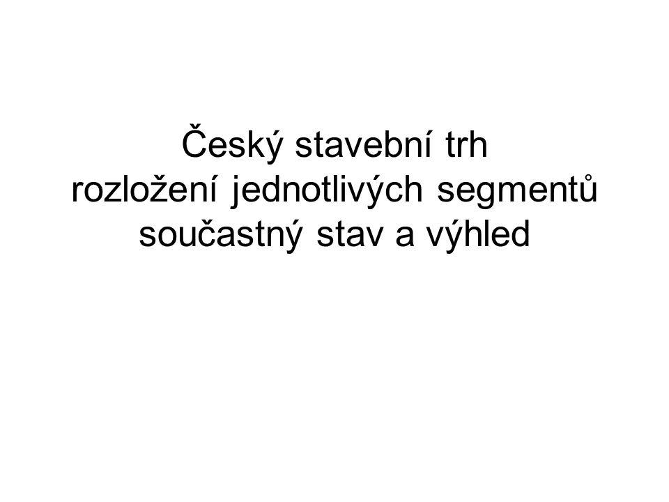 Český stavební trh rozložení jednotlivých segmentů součastný stav a výhled