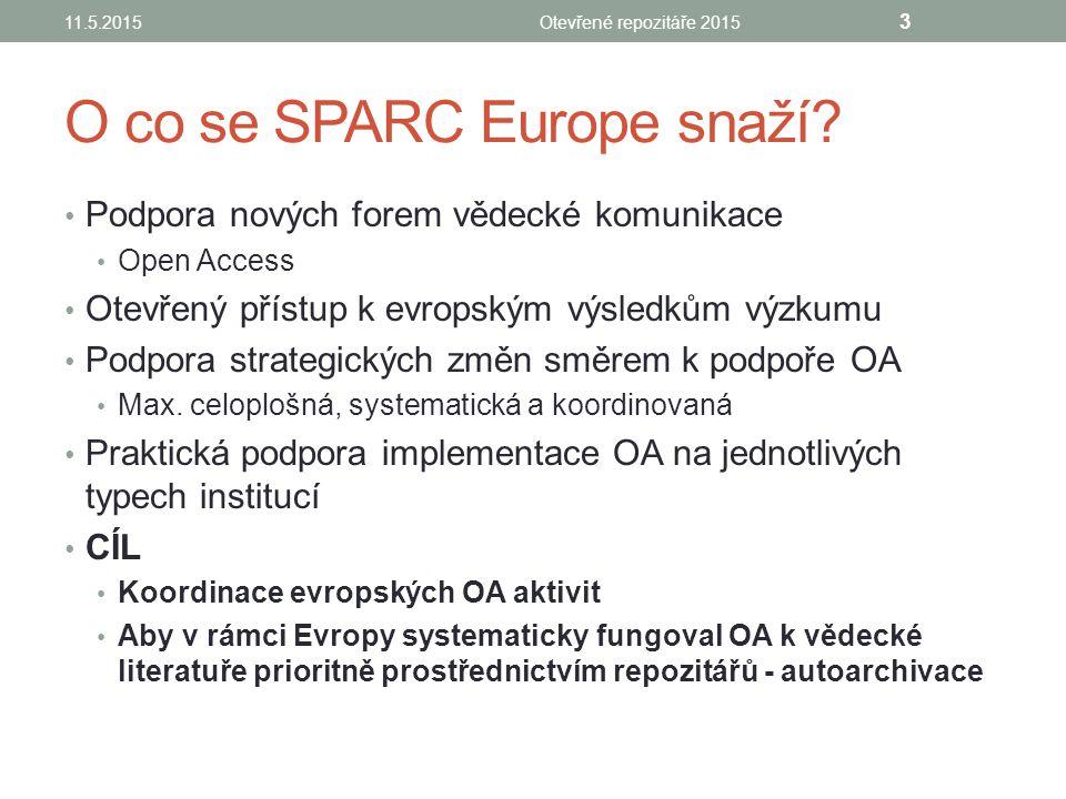 Priority 1.Obhajoba a podpora Open Access na úrovni OA politik 2.