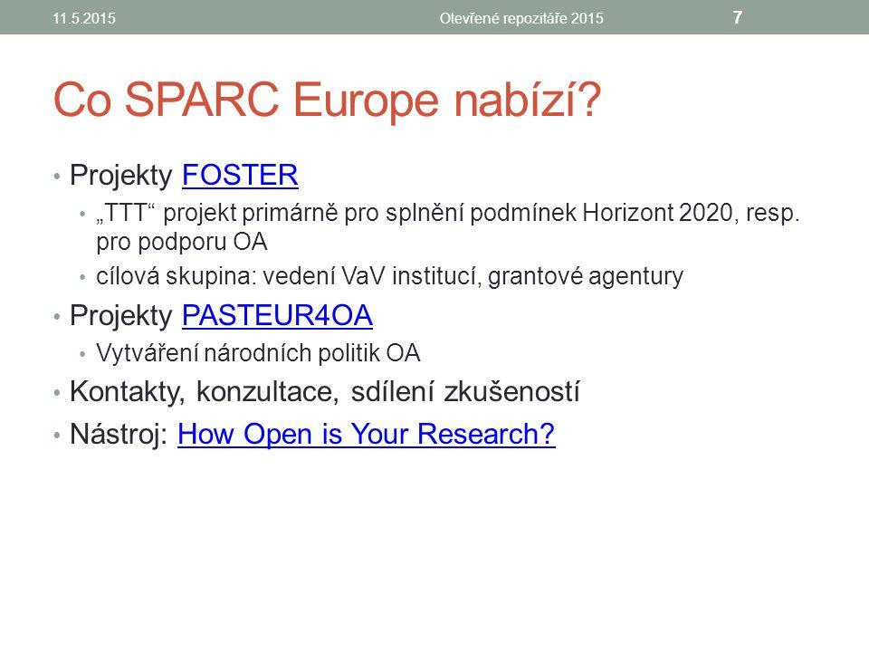 Co SPARC Europe nabízí.