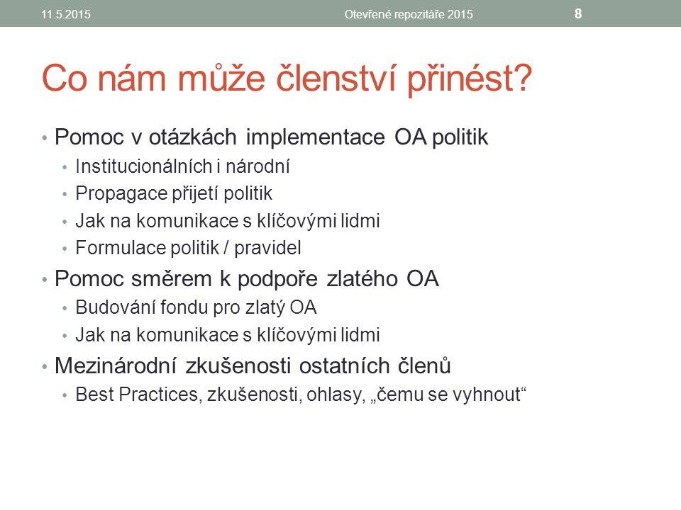 DĚKUJI ZA POZORNOST Lenka Němečková Lenka.nemeckova@cvut.cz 11.5.2015Otevřené repozitáře 2015 9