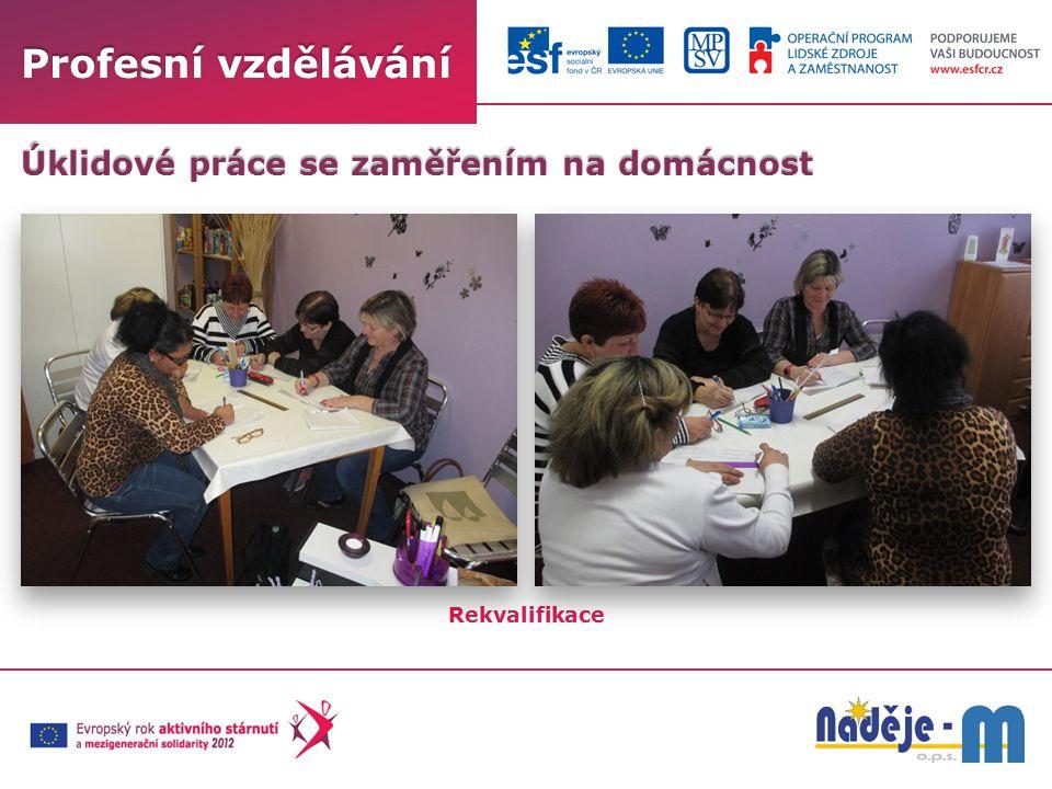 Profesní vzdělávání Rekvalifikace Úklidové práce se zaměřením na domácnost