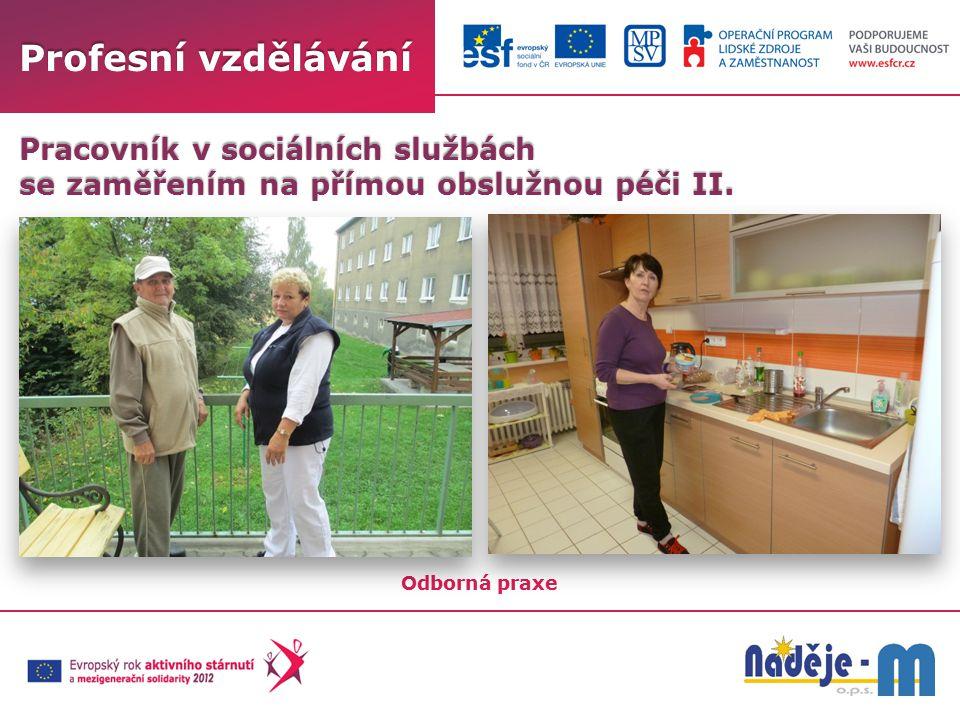 Profesní vzdělávání Odborná praxe Pracovník v sociálních službách se zaměřením na přímou obslužnou péči II.