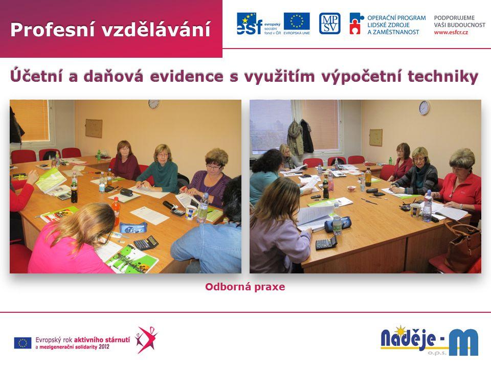 Profesní vzdělávání Odborná praxe Účetní a daňová evidence s využitím výpočetní techniky