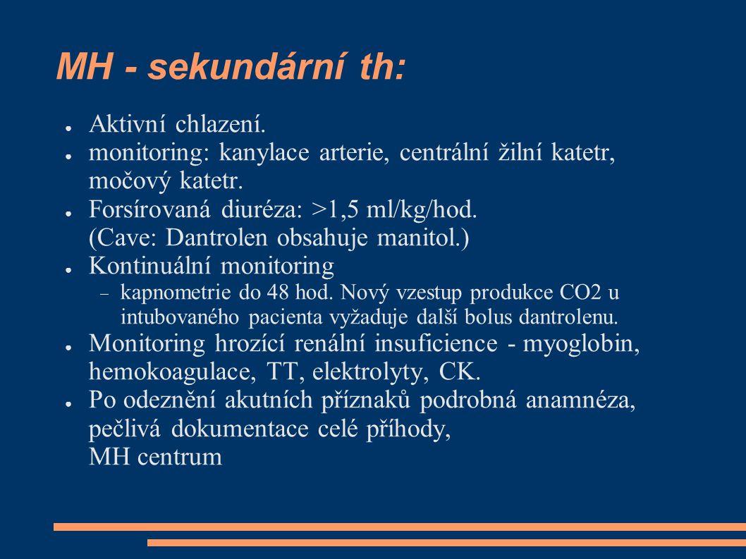 MH - sekundární th: ● Aktivní chlazení.