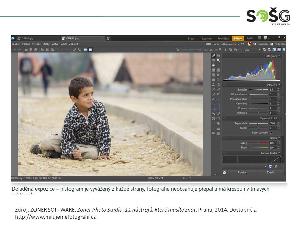 Zdroj: ZONER SOFTWARE. Zoner Photo Studio: 11 nástrojů, které musíte znát.