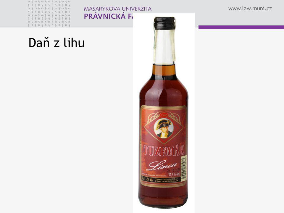 www.law.muni.cz Daň z lihu