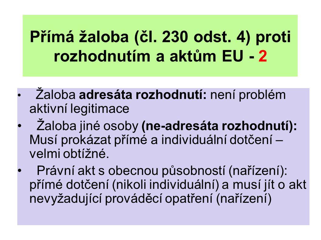 Přímá žaloba (čl. 230 odst.