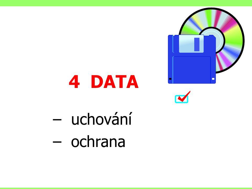 4 DATA – uchování – ochrana