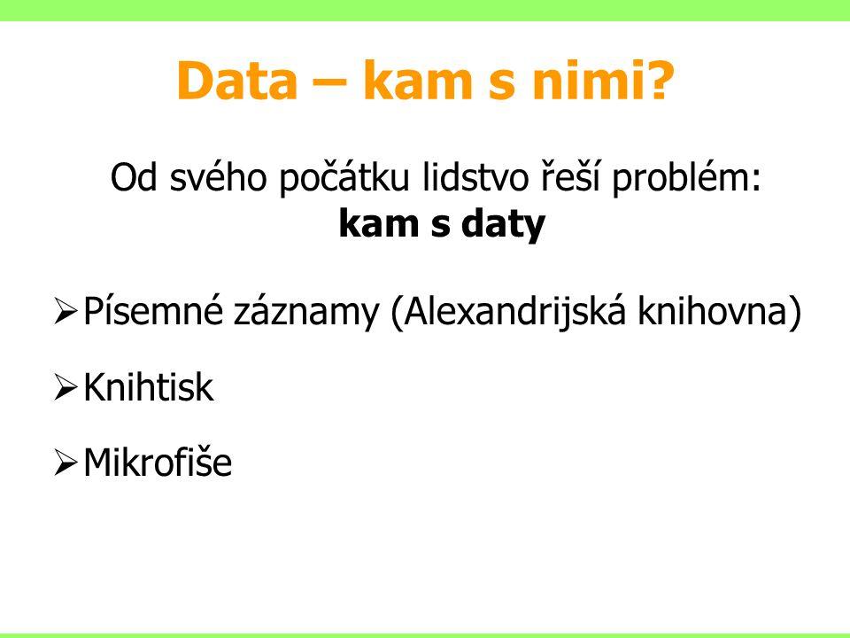 Data – kam s nimi.