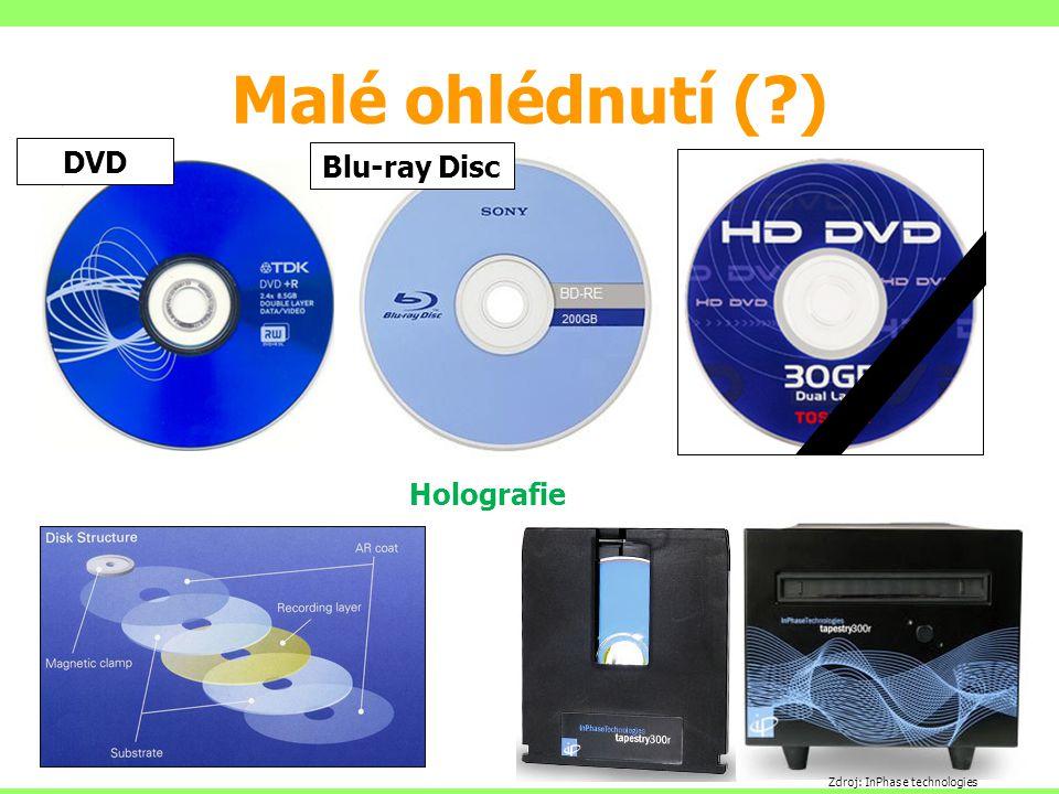 Malé ohlédnutí (?) Zdroj: InPhase technologies Holografie DVD Blu-ray Disc