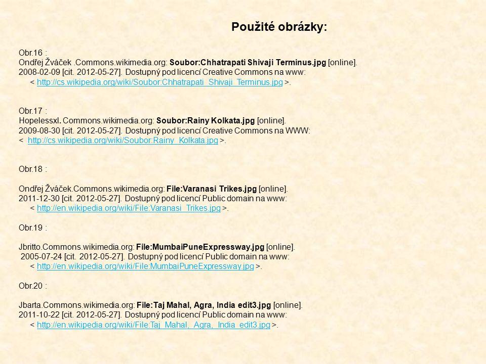 Obr.16 : Ondřej Žváček.Commons.wikimedia.org: Soubor:Chhatrapati Shivaji Terminus.jpg [online]. 2008-02-09 [cit. 2012-05-27]. Dostupný pod licencí Cre