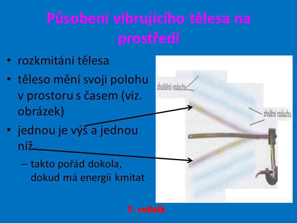 v prostoru, kde těleso bylo, vznikne podtlak => => zředěni vzduchu pohybující se těleso před sebou tlačí částice vzduchu => zhuštění částic ve směru pohybu tělesa => přetlak => => zhuštění vzduchu