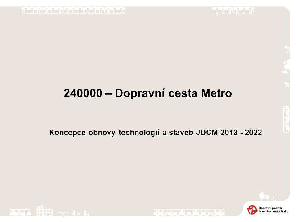 240000 – Dopravní cesta Metro Koncepce obnovy technologií a staveb JDCM 2013 - 2022