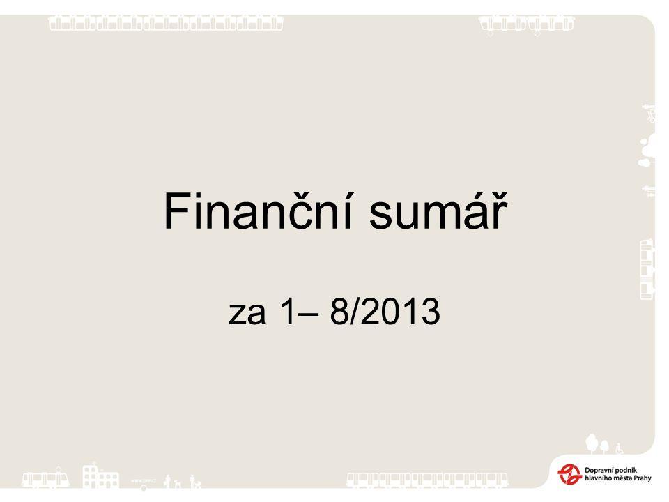 Finanční sumář za 1– 8/2013