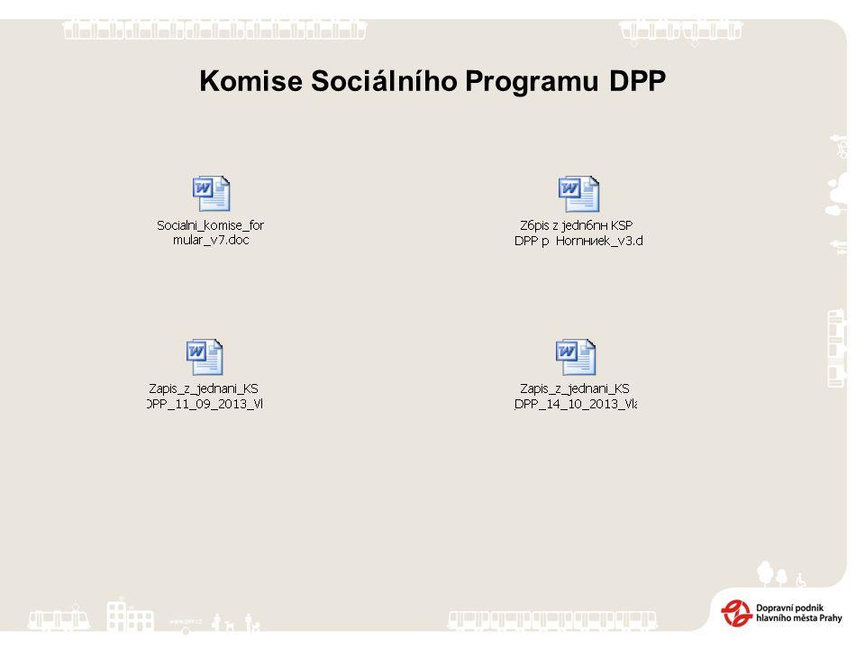 Komise Sociálního Programu DPP