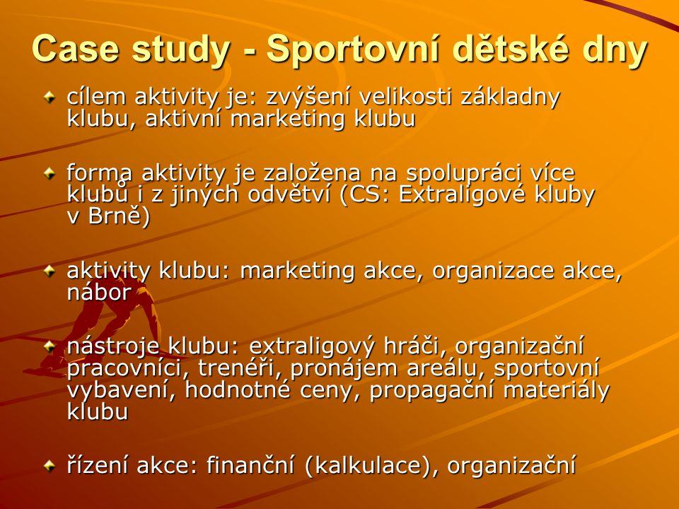 analýza akce Analýza použitých marketingových kanálů (51 respondentů) Case study - Sportovní dětské dny Pomohl Sportovní dětský den při rozhodování, do jakého sportu dítě umístit.
