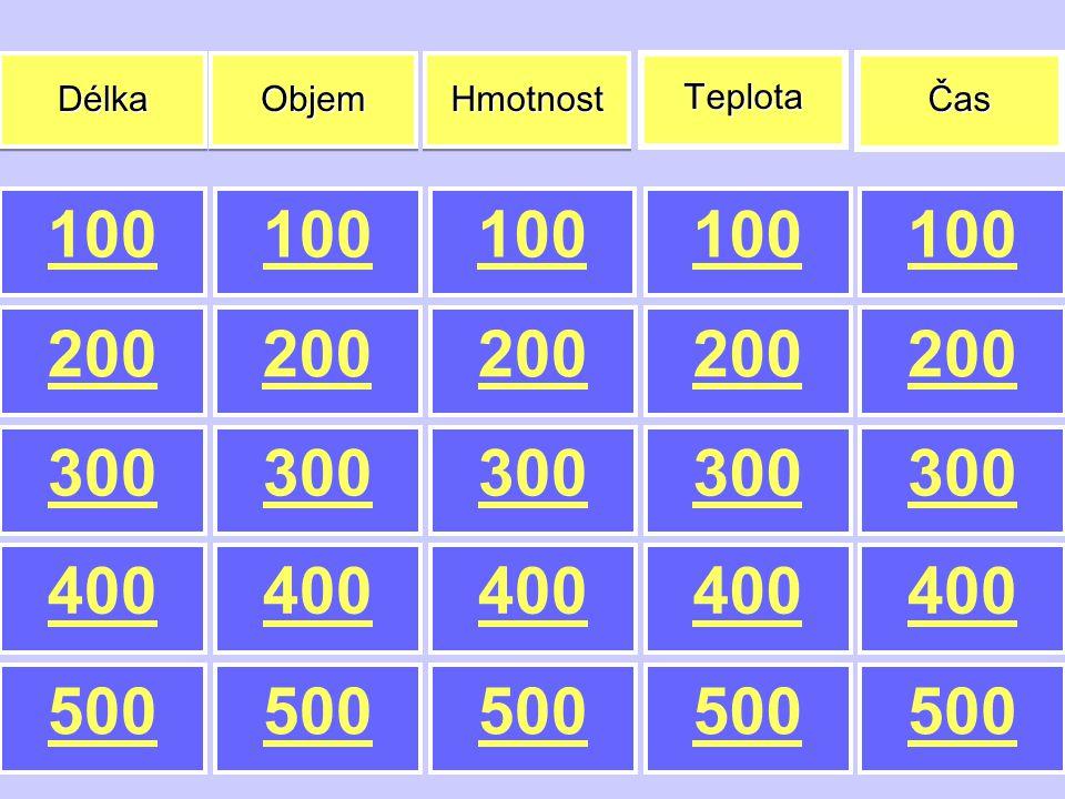 Je to … ? Hmotnost za 100 Jaká je základní jednotka hmotnosti?
