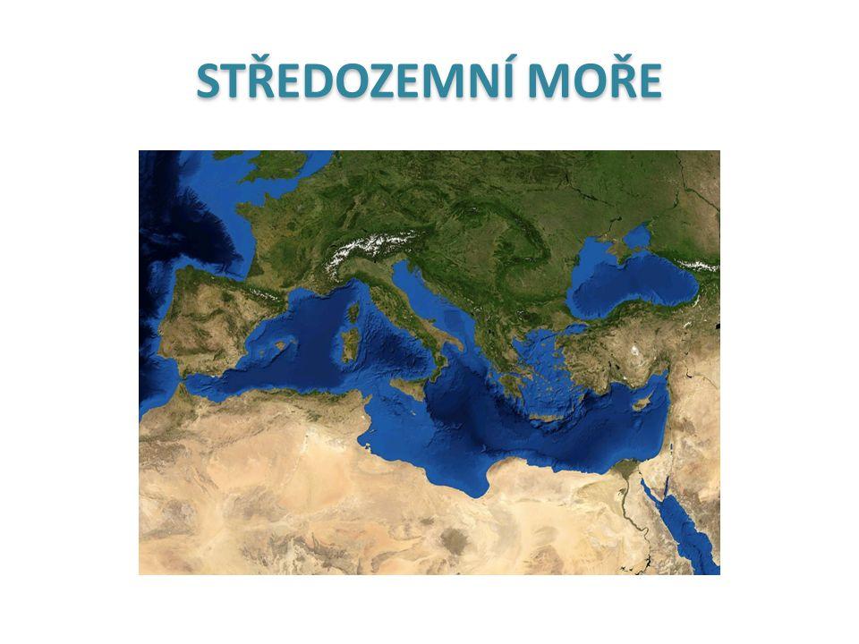 latina mare mediterraneum mare internum mare nostrum Středozemní moře vnitřní moře naše moře řečtinaΜεσόγειο ΘάλασσαStředozemní moře hebrejština הים התיכון centrální moře arabština البحر الأبيض المتوسط centrální bílé moře turečtinaAkdenizbílé moře angličtinaMediterranean SeaStředozemní moře němčinaMittelmeercentrální moře ruštinaСредизе́мное мо́ре Středozemní moře
