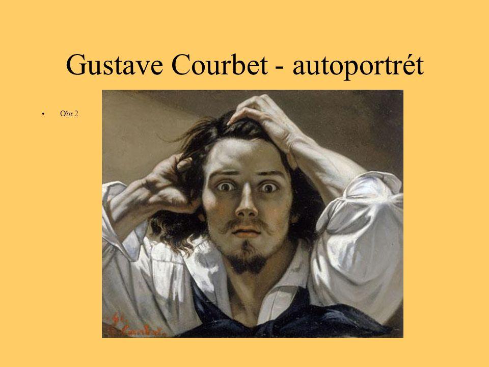 Gustave Courbet - autoportrét Obr.2