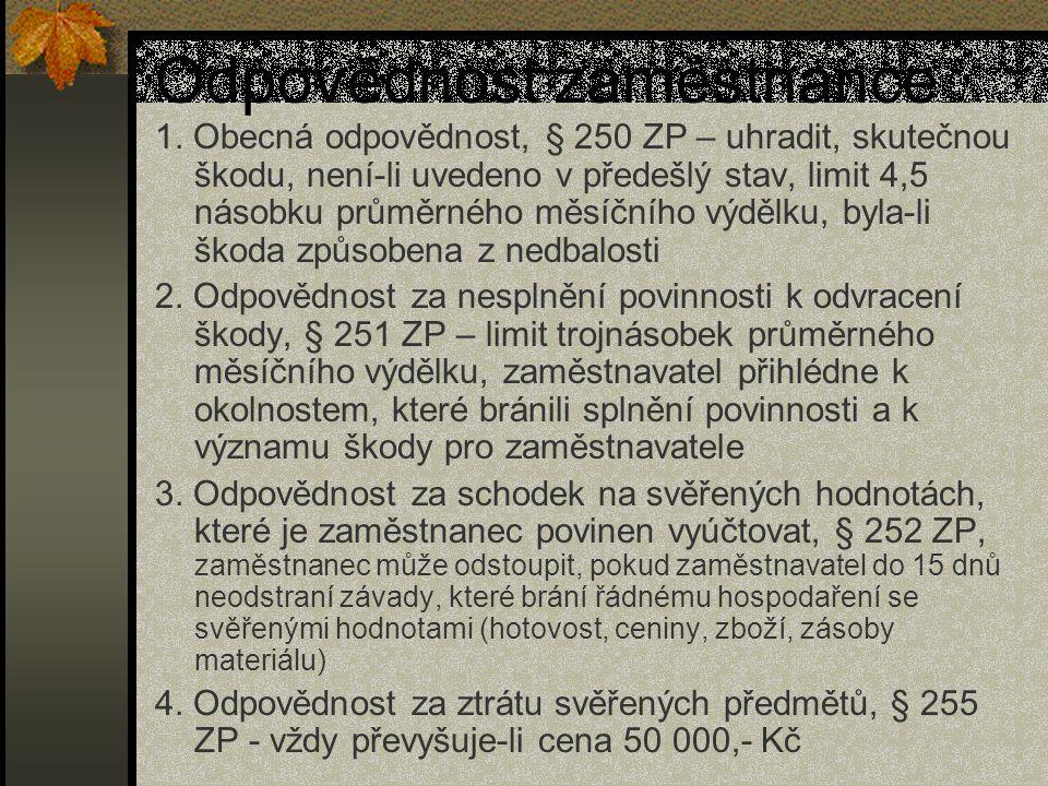 Dohoda o srážkách ze mzdy § 13 odst.1 písm.