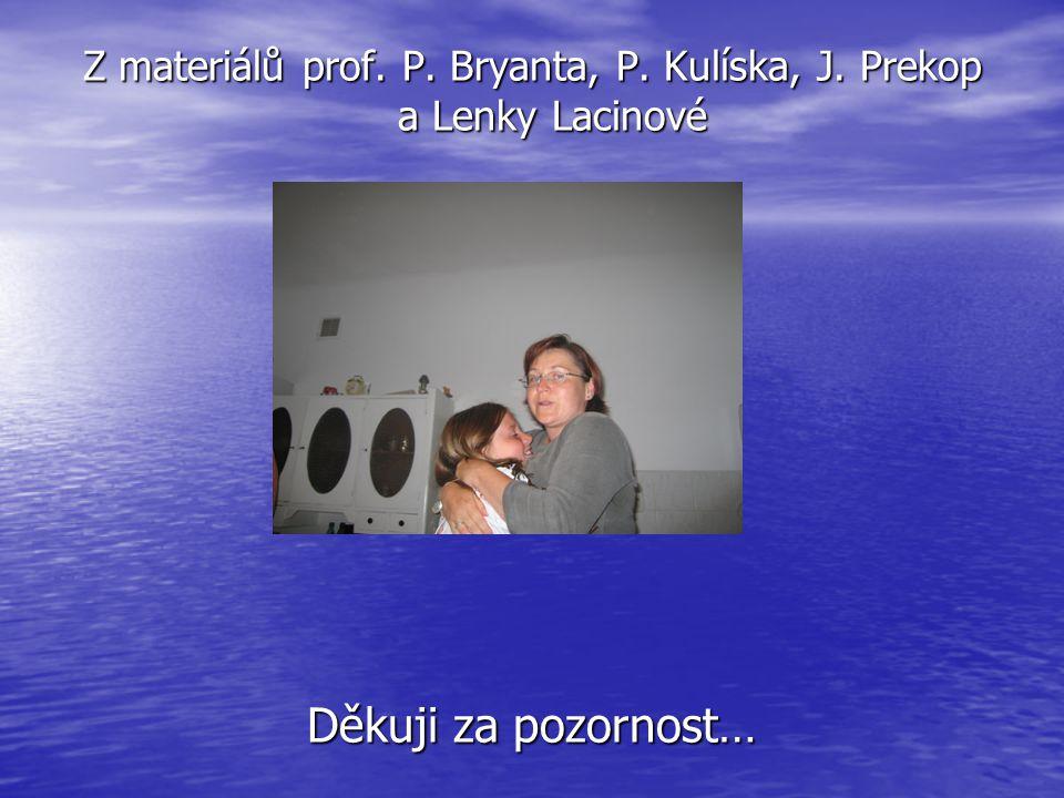 Z materiálů prof. P. Bryanta, P. Kulíska, J. Prekop a Lenky Lacinové Děkuji za pozornost…