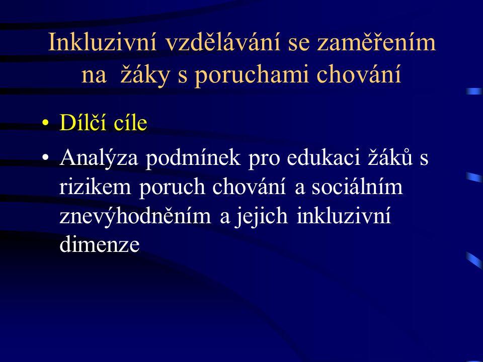Empirický výzkum se za měřením na český jazyk a jazykovou komunikaci Výzkumný cíl  Zaměřit se na zjištění současného stavu ve výuce žáků se speciálními vzdělávacími potřebami na vybraných školách v Brně  Podpořit tvorbu a průběžnou modifikaci školních vzdělávacích programů v konkrétních i obecně platných podmínkách škol s inkluzivním vzděláváním