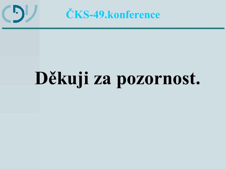 ČKS-49.konference Děkuji za pozornost.