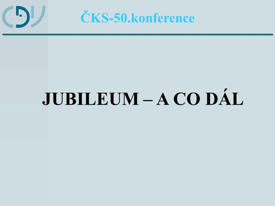 ČKS-50.konference 1Bilancovat 2Technický pokrok 3Jak dál